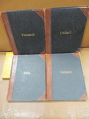 Quatuors für 2 Violinen, Viola und Violincell, herausgegeben von Ferd. David. ( = Opus 18 ) 4 Bände...