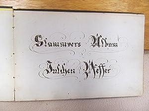 Stammvers-Album Julchen Pfeffer ( Hamburg um Umgebung um 1876 )