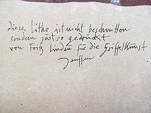 Farblithographie *Selbst mit Gesche 29.1.(19)71*. signiert, datiert.: Janssen, Horst (*1929-1995)