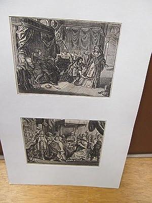 2 Kupferstiche - Illustration.: Van der Venne, Adriaen Pietersz ( *1589 Delft -1662 Den Haag )