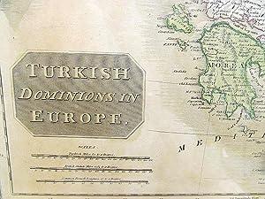 Turkish dominions in Europe. Grenzkolorierter Stahlstich aus: Thomsons New General Atlas.: Thomson,...