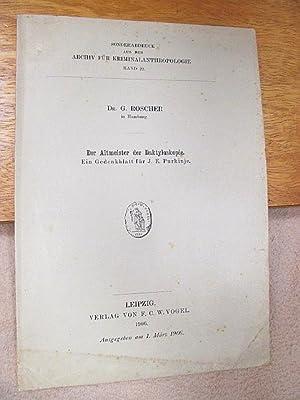 Handbuch der Daktyloskopie. Für den Selbstunterricht bearbeitet.: Roscher, Dr. G. ( Polizeidirektor...