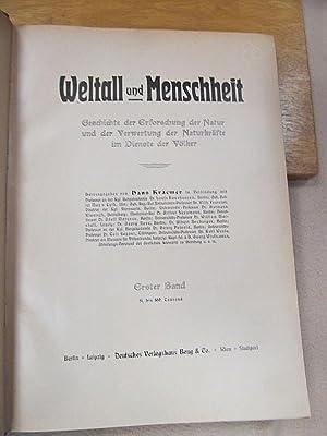 Weltall und Menschheit. Geschichte der Erforschung der Natur und der Verwertung der Naturkräfte im ...