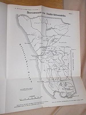 Die Kämpfe der deutschen Truppen in Südwestafrika. Erster Band: Der Feldzug gegen die Hereros.: ...