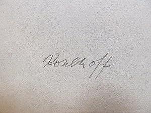 Bleistiftskizze von 2 Tannen vor hohen Gipfeln, links unten mit *Kohlhoff * signiert, undatiert.: ...