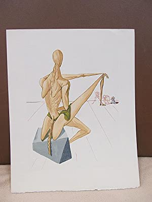 Original Farbholzschnitt bzw. Xylographie: *Der Totenrichter Minos*.: Dali, Salvador (