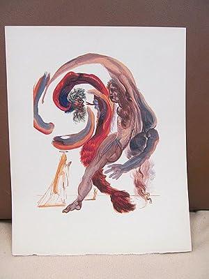 Original Farbholzschnitt bzw. Xylographie: *Der vierte Kreis: Dali, Salvador (