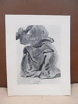 Original Kupferstich   copper etching: *Im Feuerhimmel*.: Dali, Salvador (