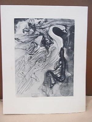 Original Kupferstich   copper etching: *Der Vogel: Dali, Salvador (
