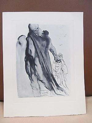 Original Kupferstich   copper etching: *Vergil rügt: Dali, Salvador (