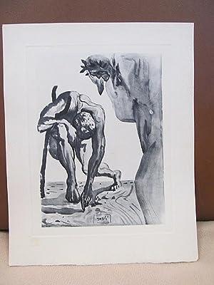 Original Kupferstich   copper etching: *Die säumigen: Dali, Salvador (