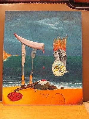 Surreales Ölgemälde in leichter Anlehnung an den Stil Salvador Dalis. Öl auf Leinwand, unsigniert, ...