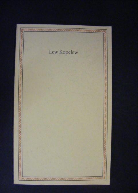 Ansprache aus Anlass der Verleihung des Friedenspreises: Kopelew, Lew