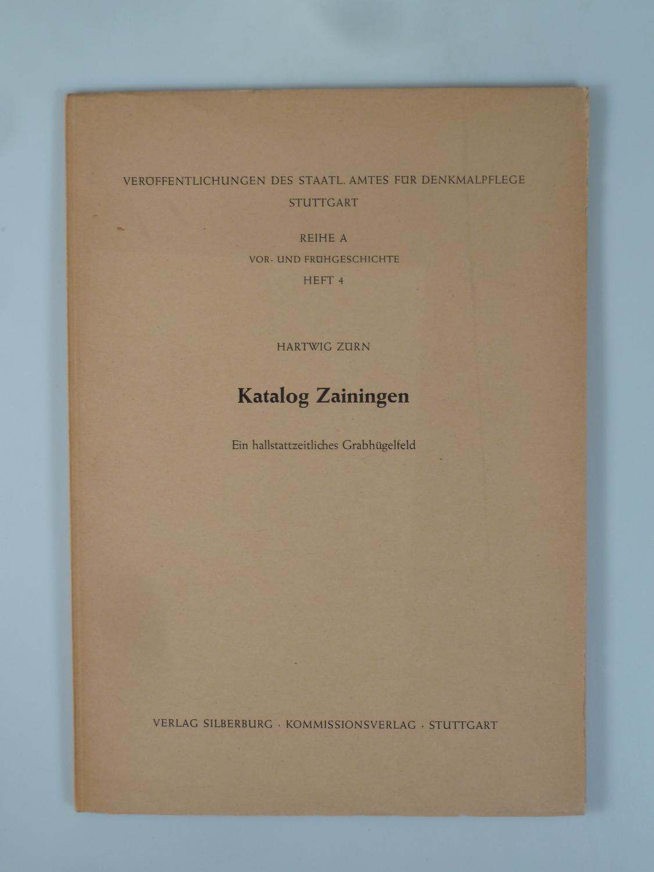 Katalog Zainingen.: ZÜRN, Hartwig.