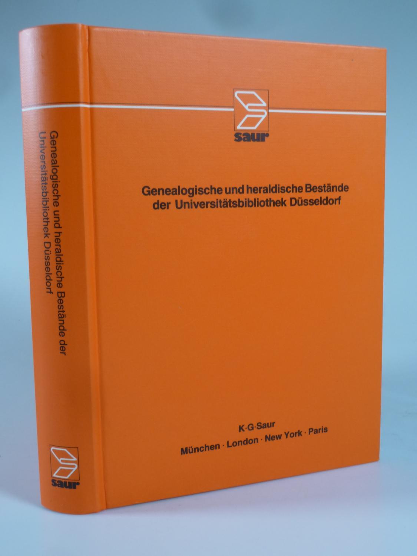 Genealogische und heraldische Bestände der Universitätsbibliothek Düsseldorf.: GATTERMANN, Günter (Hrsg.).