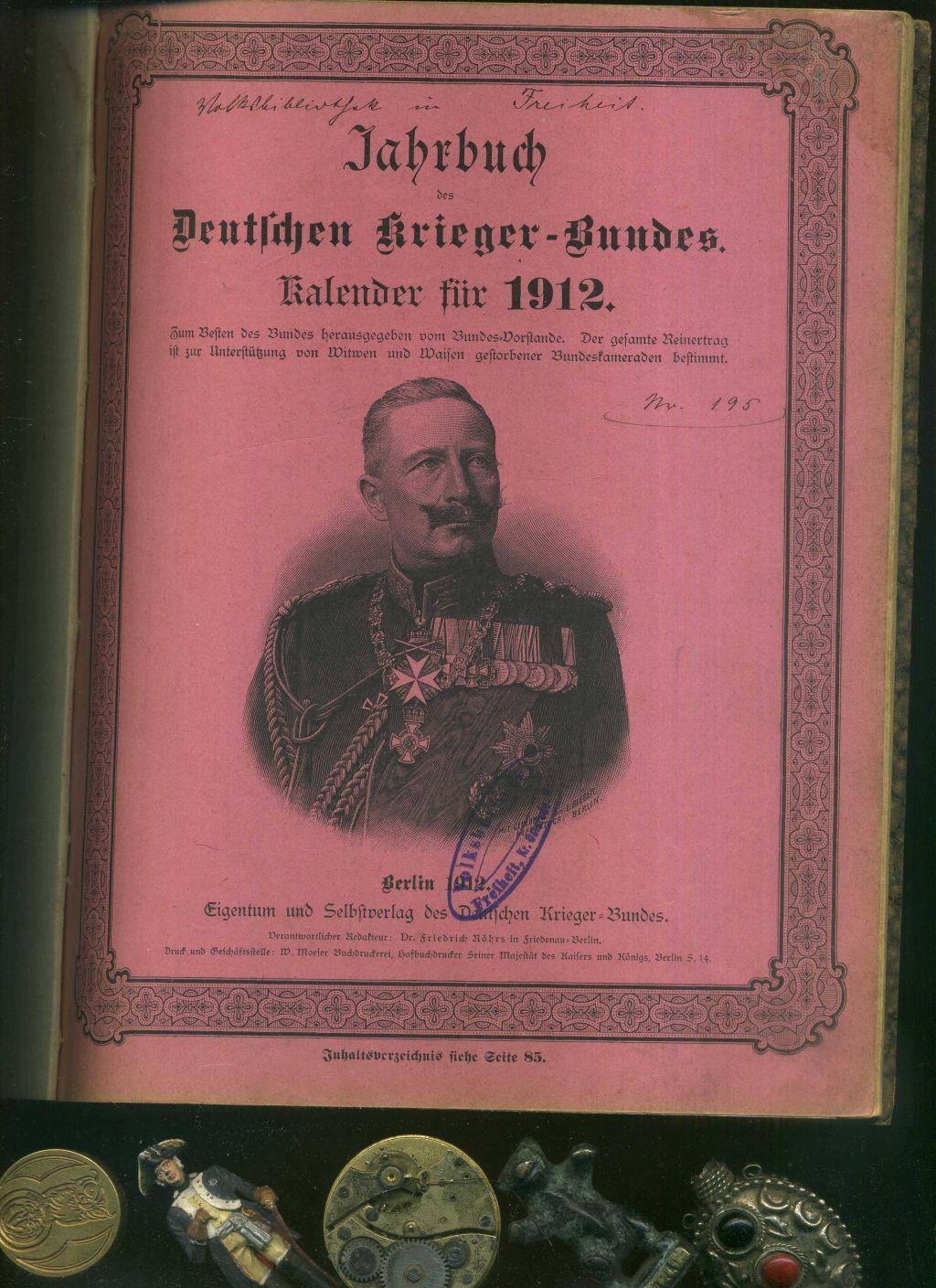 jahrbuch des deutschen krieger bundes - ZVAB