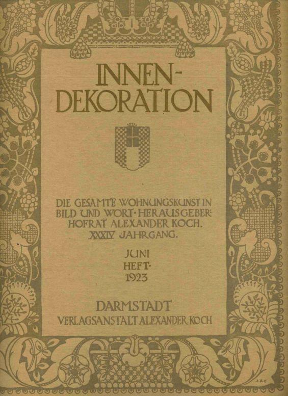 Innendekoration illustrierte kunstgewerbliche von koch zvab for Innendekoration alexander koch
