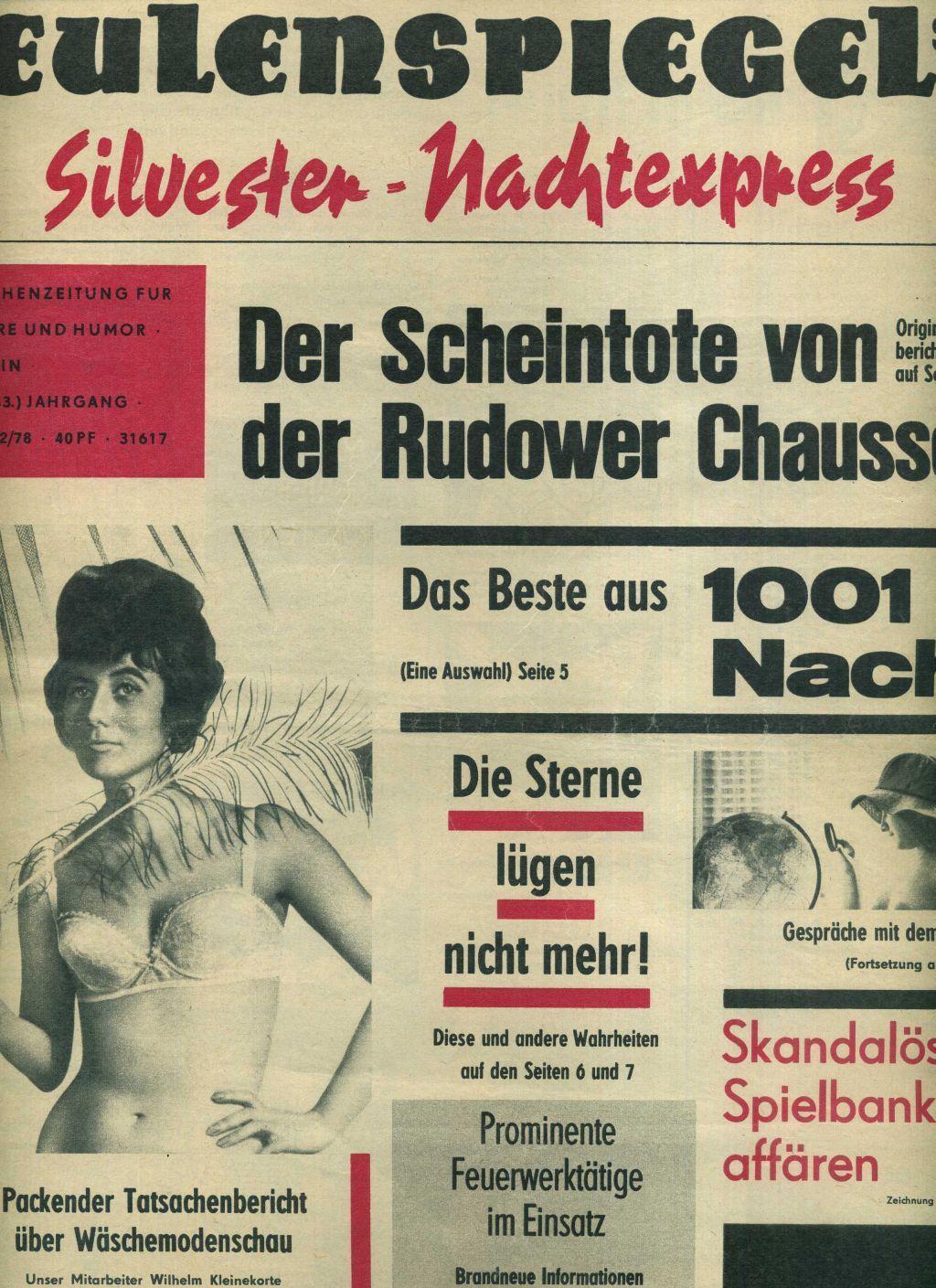 Eulenspiegel Wochenzeitschrift Fur Satire Und Humor