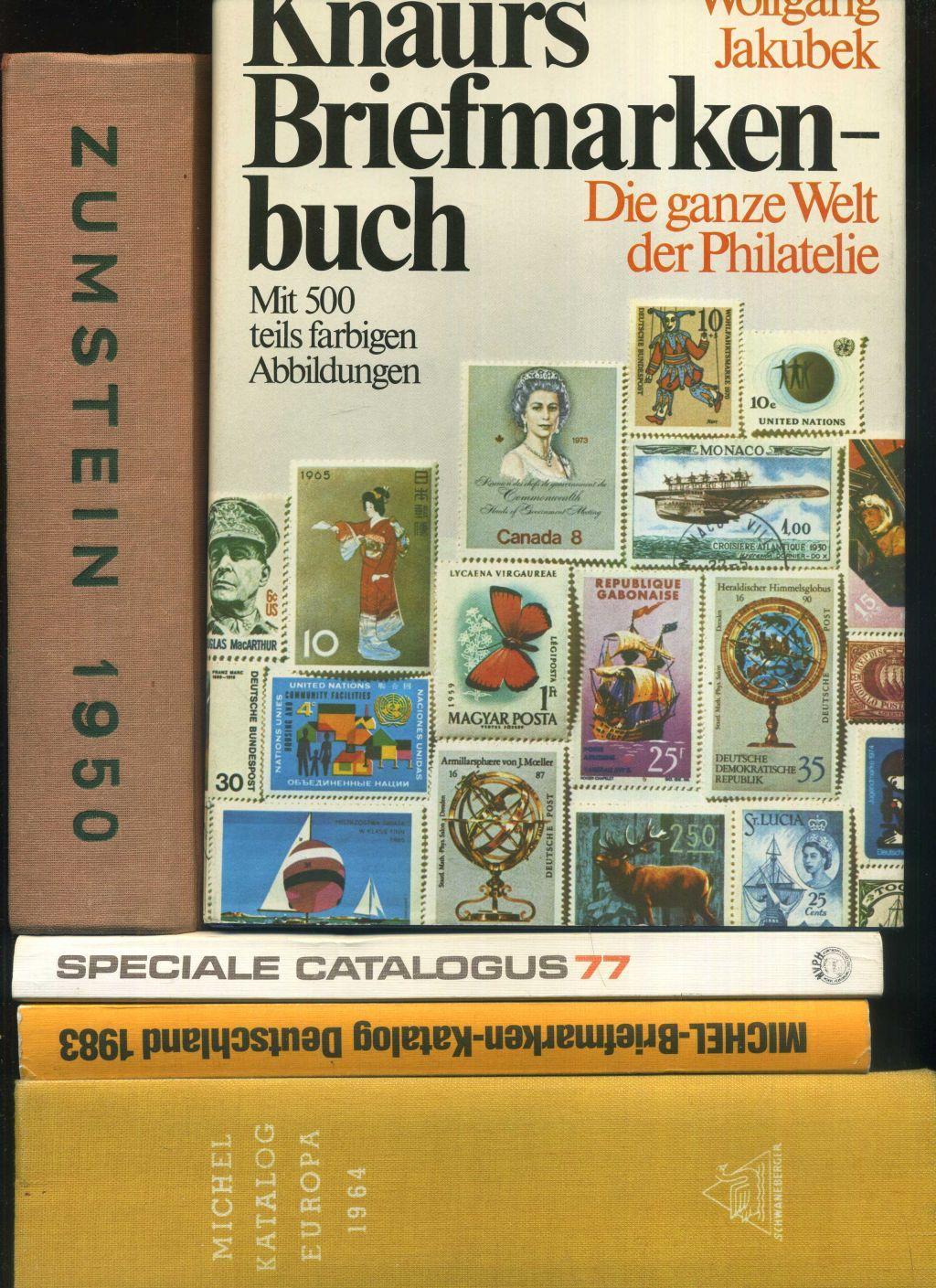 Konvolut von 5 Büchern zum Thema Briefmarken: Michel Katalog Briefmarken