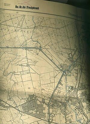 Übersichtsplan von Oranienburg. Preußische Landesaufnahme 1901 / Nachträge 1927 . Format: ca. 50 x ...