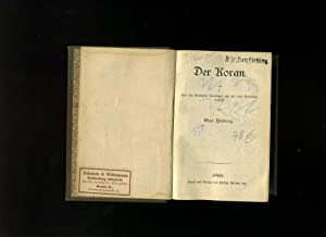 Der Koran. Aus dem Arabischen übertragen und: Henning, Max /