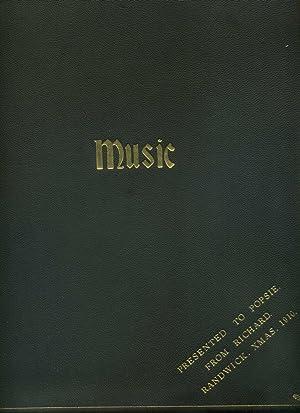 Konvolut von zahlreichen Einzelheften gebunden im einem: Konvolut von Musikblättern: