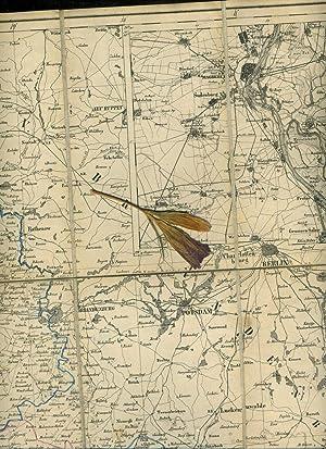 Karte der Königl. Preuss. Provinz Sachsen. Format: 70 x 60 cm gefaltet . Leinen 24 Segmente 17...
