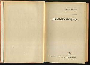 Jezykoznawstwo. Text in Polnisch.: Milewski, Tadeusz: