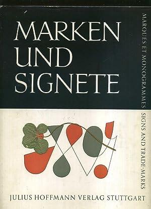 Marken und Signete. 471 Firmenzeichen und Schutzmarken.: Finsterer Stuber, Gerda: