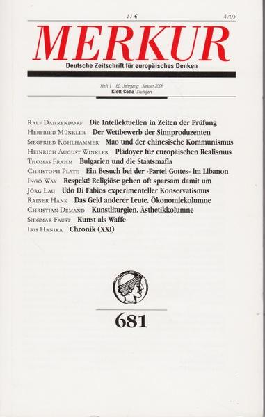 Merkur Heft 681 - Bohrer, Karl Heinz (Herausgeber