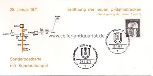 29. Januar 1971. Eröffnung der neuen U-Bahnstrecken: Berlin