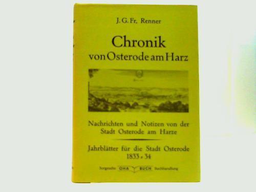 Historisch,- topographisch-statistische Nachrichten und Notizen von der: Osterode - Renner,