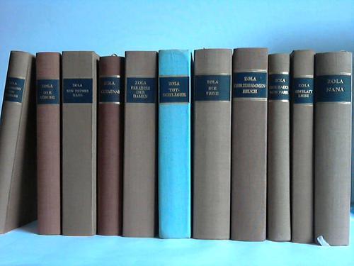 11 Bände: Zola, Emile