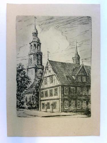 1 Postkarte: Celle - Rathaus und Stadtkirche: Celle