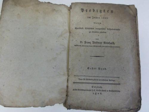 Predigten im Jahre 1800 by dem Churfürstl.: Reinhard, Franz Volkmar
