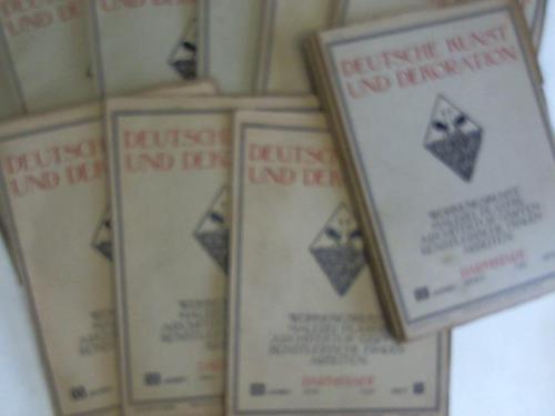 Deutsche Kunst Und Dekoration 1910 Bucher Zvab