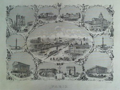 1 Blatt mit 10 verschiedenen Ansichten von: Paris