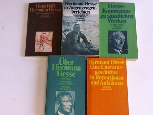 5 verschiedene Bände zu Hesse: Hesse, Hermann