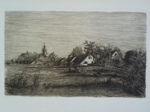 Ansicht einer Dorfidyll im Frühling mit 2: Meyer, Theodor (1860,