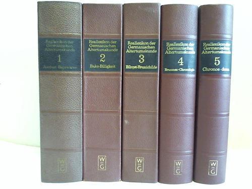 Reallexikon der Germanischen Altertumskunde. 5 Bände: Hoops, Johannes