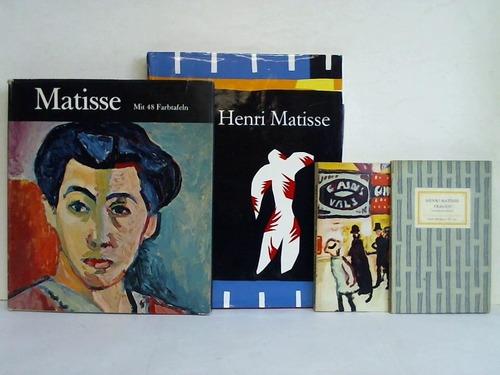 4 verschiedene Bände: Matisse, Henri