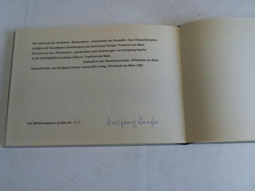 Buchstaben: Hesse, Hermann