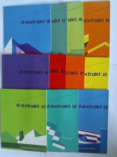 d-extrakt - Dächer, gestaltete Umwelt. 11 Hefte: Informationsdienst für neuzeitliches