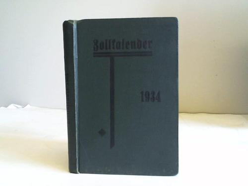 Zollkalender 1934: Vogt, Karl