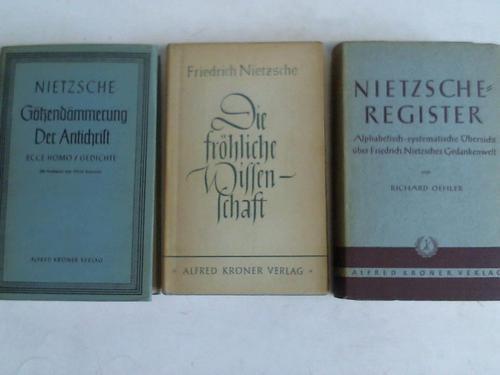 3 Bände: Nietzsche, Friedrich