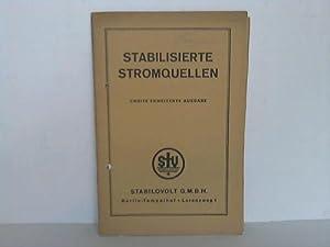 Stabilisierte Stromquellen: Stabilovolt GmbH, Berlin (Hrsg.)