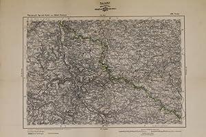 5 Karten - Grenzkolorierte Stahlstiche: Topographische Spezialkarte von Mittel-Europa