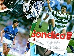 Signierte Autogrammkarte. 13 Karten: Nationalspieler, Englische