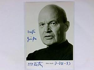 Signierte Autogrammkarte: Kurth, Otto