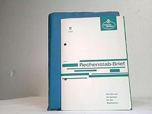 Rechenstab-Brief. Berichte und Anregungen für das Stabrechnen. 12 Ausgaben. Hefte 1 - 12: ...